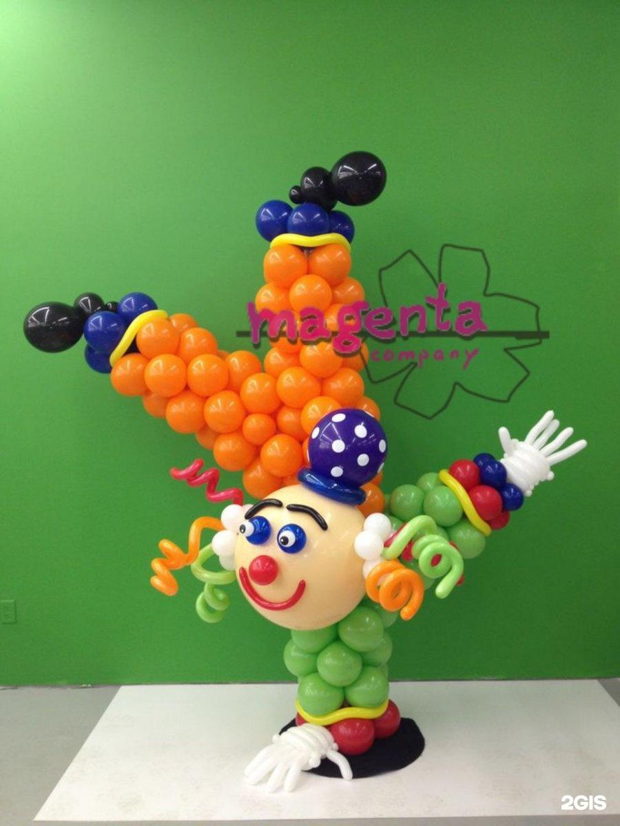 Как сделать клоунов из воздушных шаров