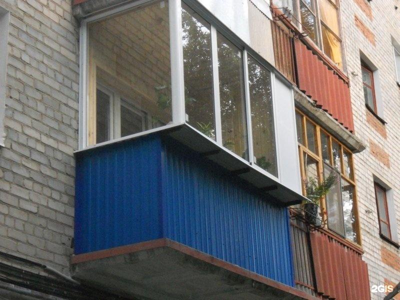 Остекление хрущевских балконов пластиковыми окнами фото..