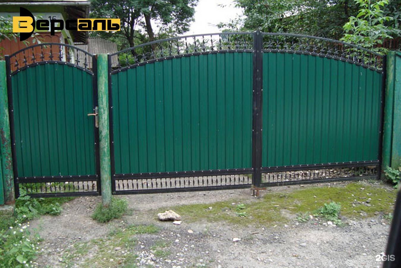 Ворота калитки из профнастила фото 2