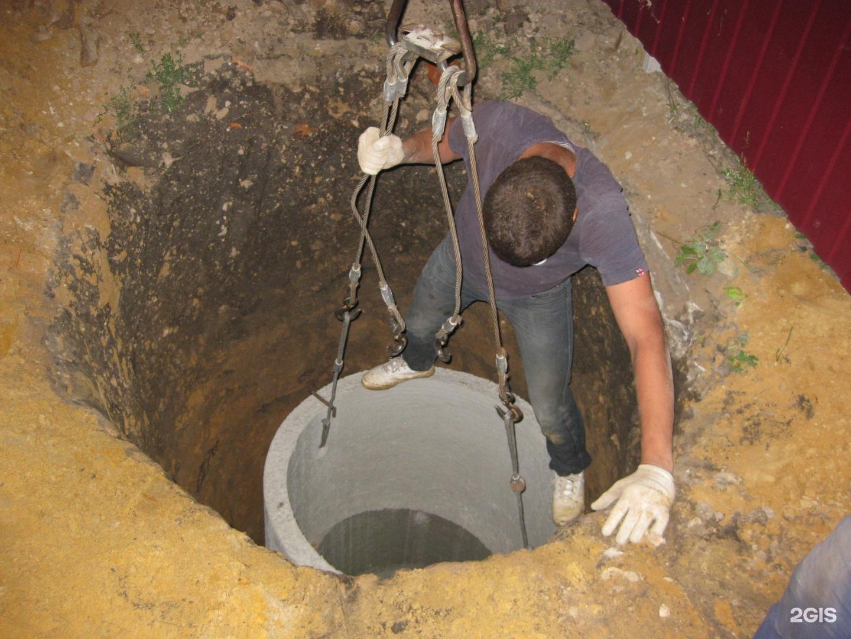 Сливная яма из бетонных колец 99