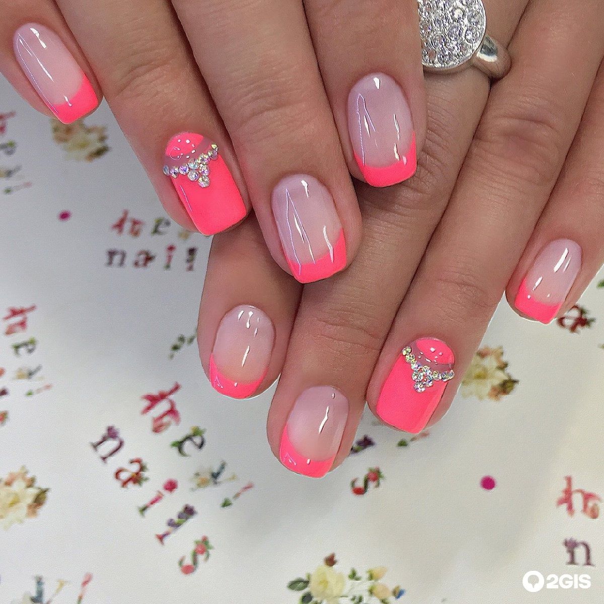 Маникюр в розовом цвете на короткие ногти фото дизайн