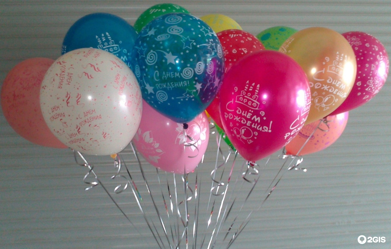 Подарки и шары в день рождения фото