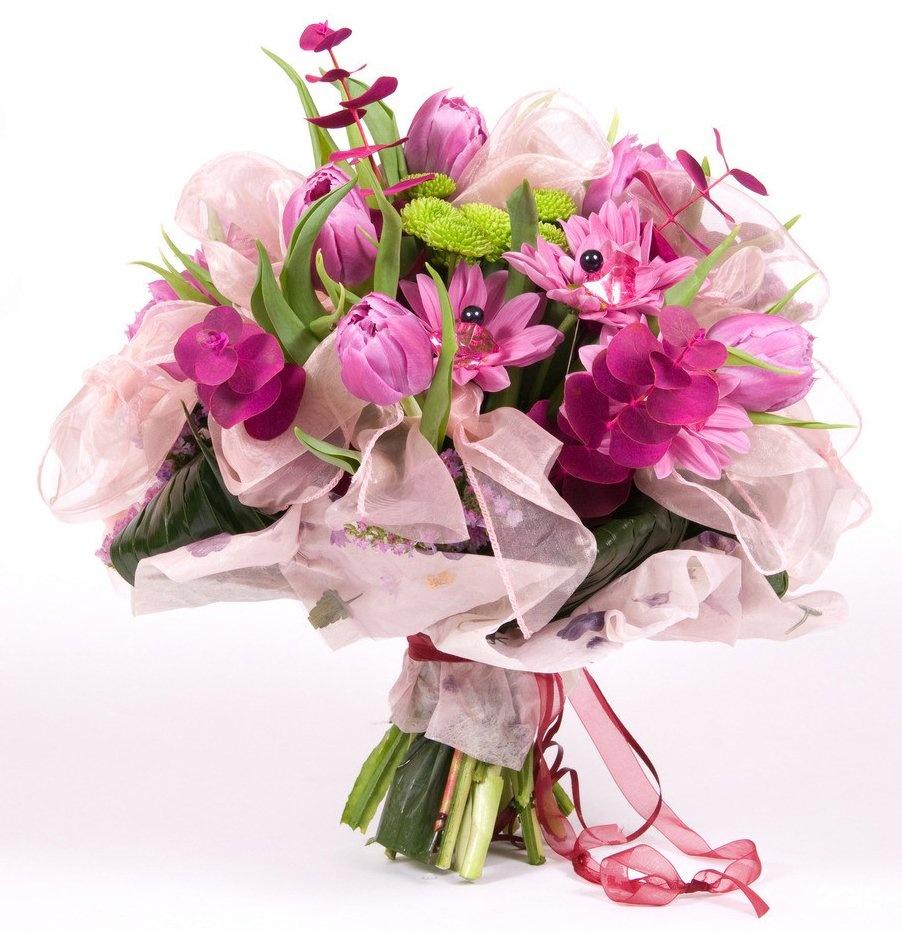 Букеты из цветов для открытки
