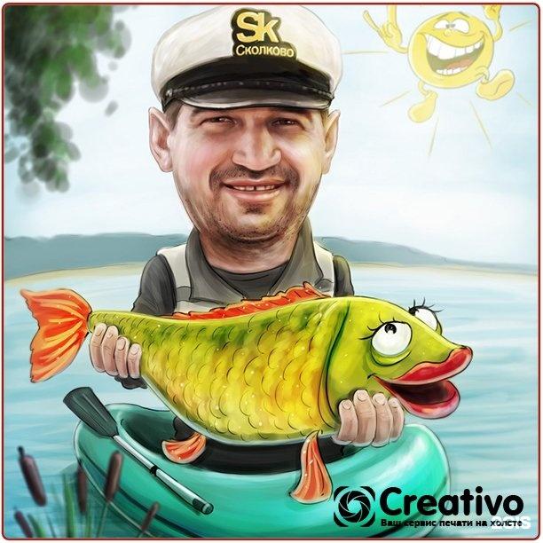Картинки с 23 февраля рыбаку смешное, сердце