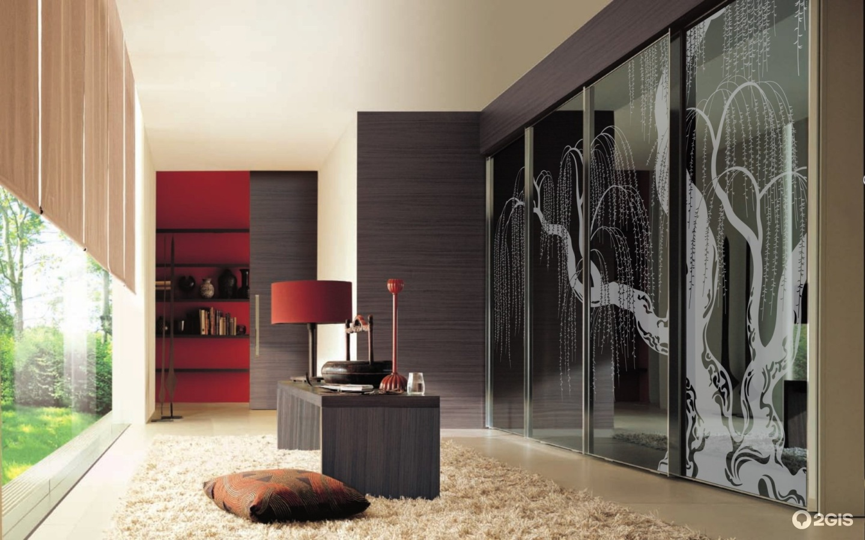 Шкаф купе в гостиную: фото, дизайн, идеи.
