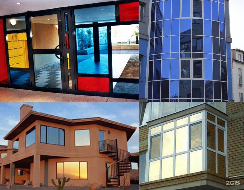 """Арт тонирование оконных стекол зданий домов - """"мастерская ст."""