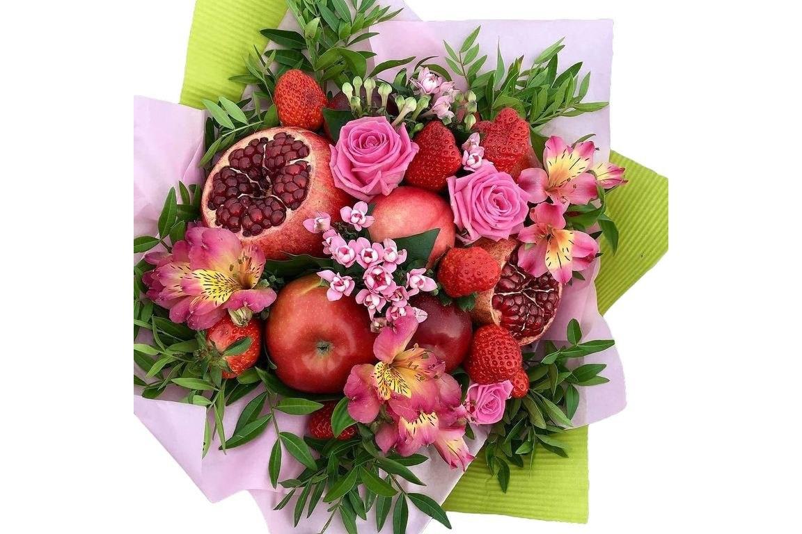 Разные букеты из цветов и фруктов спб
